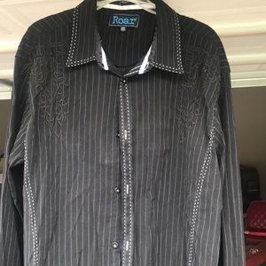 ROAR Signature 2XL Button up Embroidered shirt